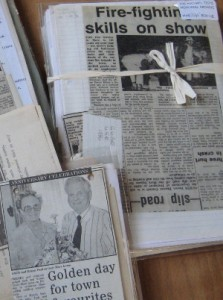 newspaper clippings